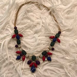 Colorful gold necklace